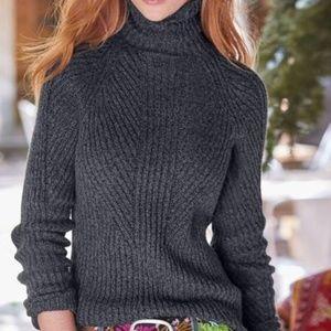 Sundance Toasty Dimensions Turtleneck Sweater Gray
